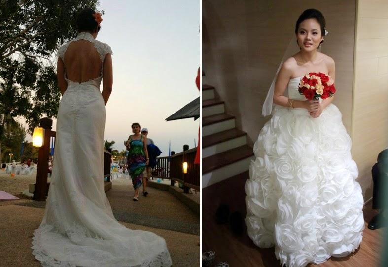outdoor wedding dress