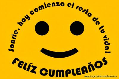 Sonrie Feliz Cumpleaños