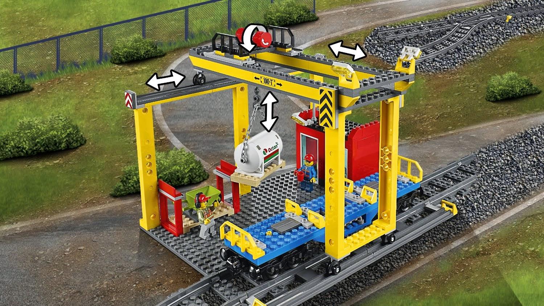 Lego City Tren de Mercancías kit 60052 - Grúa
