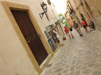Carrer Major in Dalt Vila of Ibiza