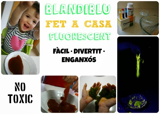 cartel blandiblu casero fluorescente
