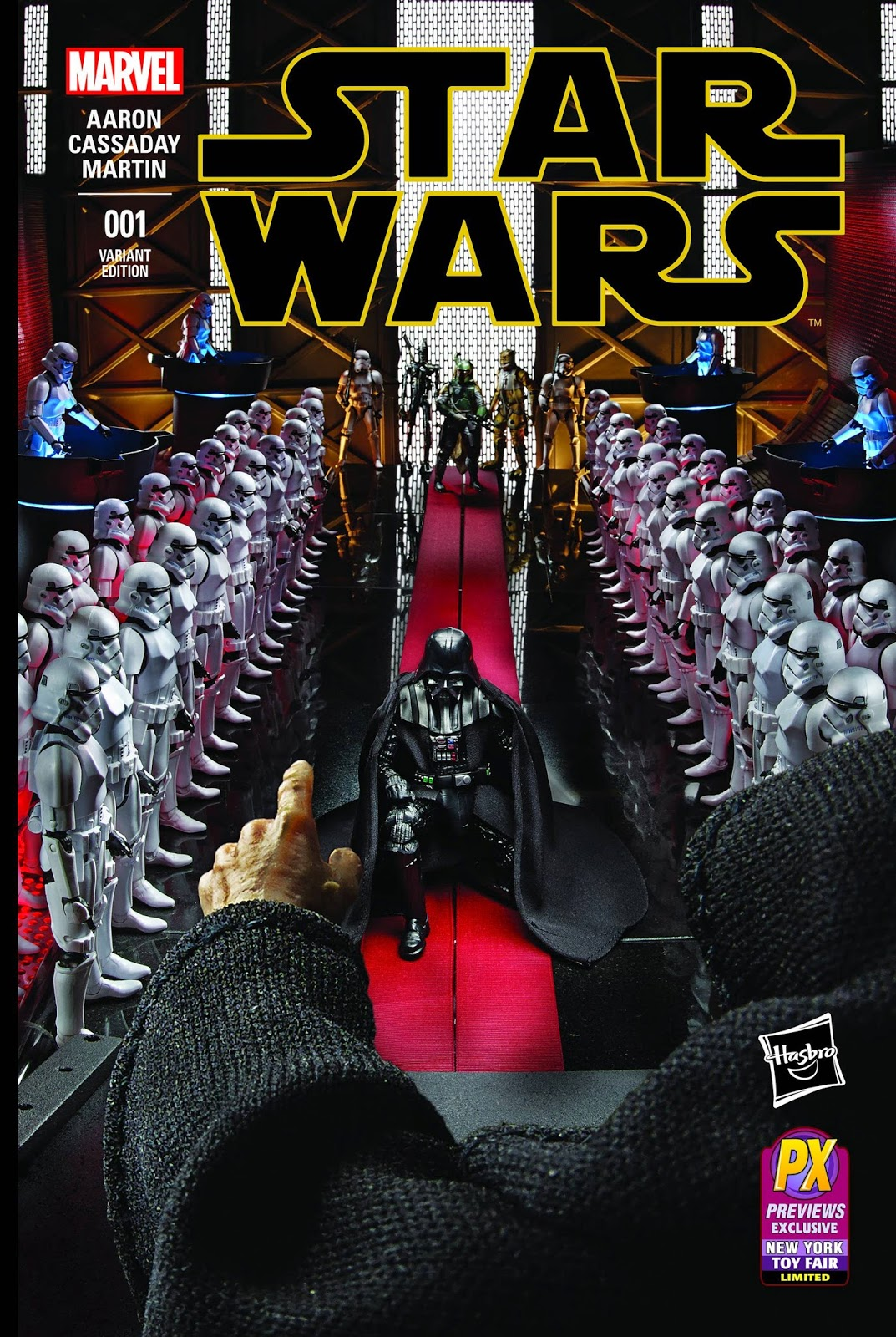 Previews Exclusive Star Wars #1 Hasbro Star Wars Black Series Photo Variant Cover