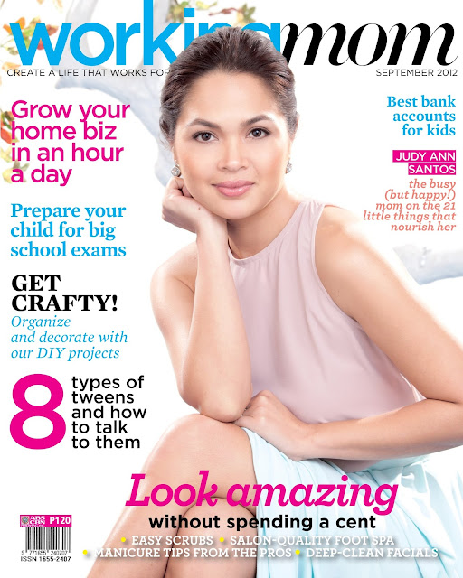Judy Ann Santos Covers Working Mom September 2012 Issue