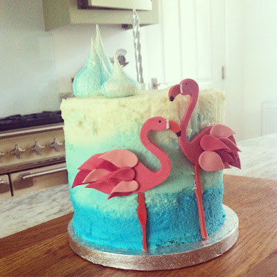 Birthday Cake Victoria Sandwich Flamingos Meringues