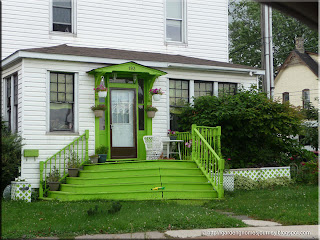 green stairs spotted at Sault Ste. Marie