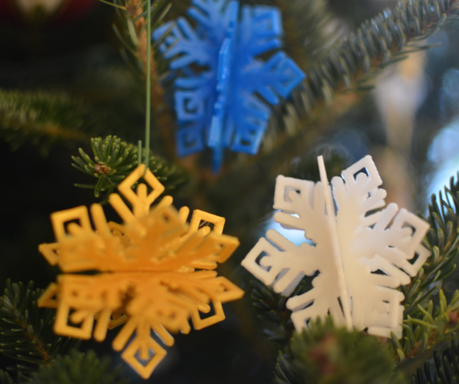Snowflake Coaster 3D Printed Cute Holiday Seasonal Table Decor