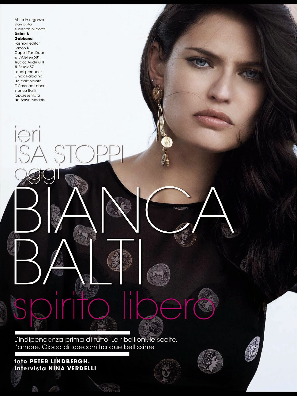 Magazine Photoshoot : Bianca Balti Photoshoot for Glamour Magazine Italia February 2014 Issue