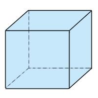 Abb. 2: Würfel (Kubus, 6 Seiten) aus Vierecken