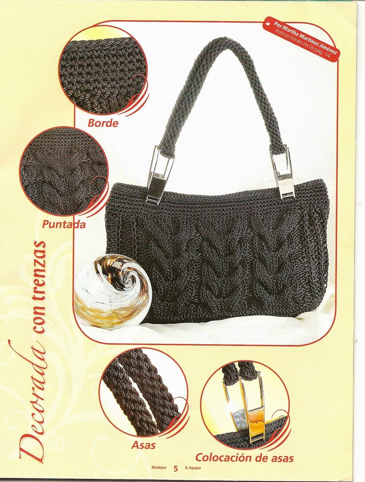 como hacer bolsos con dos agujas revistas de crochet y On como hacer bolsos de lana a dos agujas