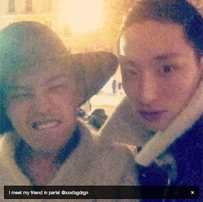 G-Dragon in Paris with Lee Soo Hyuk 130121