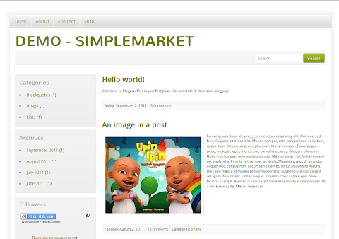 SimpleMarket Blogger Theme