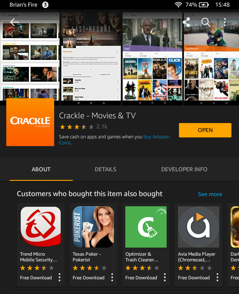 Crackle for PC Windows 7/8/81/10- Free Download
