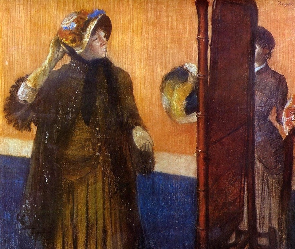 Edgar Degas - At the Milliners 1892
