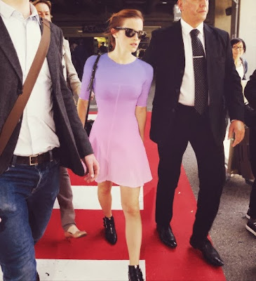 Emma Watson Radiant Orchid Purple Dress