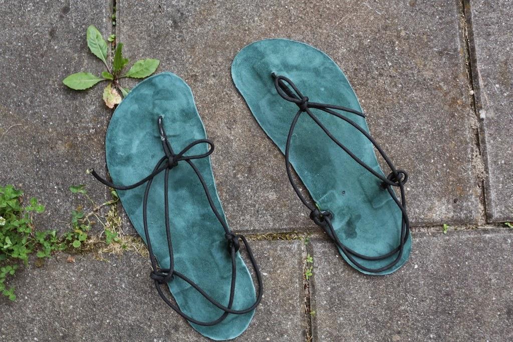huarache sandalen selber machen. Black Bedroom Furniture Sets. Home Design Ideas