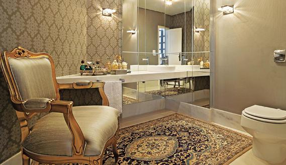 Dekor e Salteado Lavab -> Banheiro Pequeno E Classico