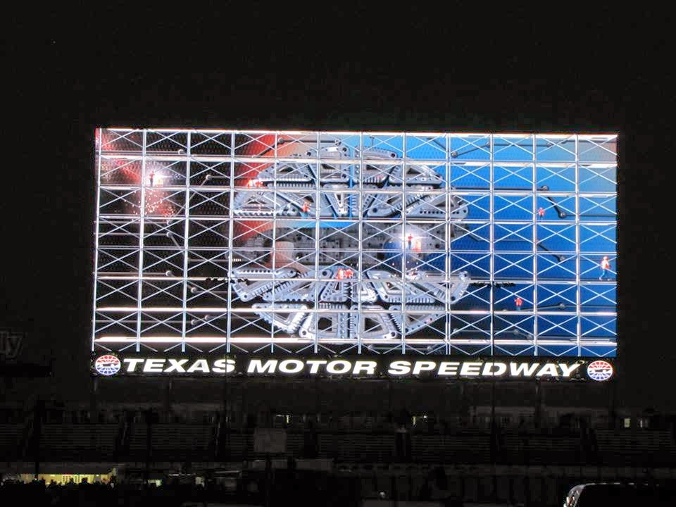 Texas motor speedway unveils big hoss tv with some help for Texas motor speedway schedule this weekend
