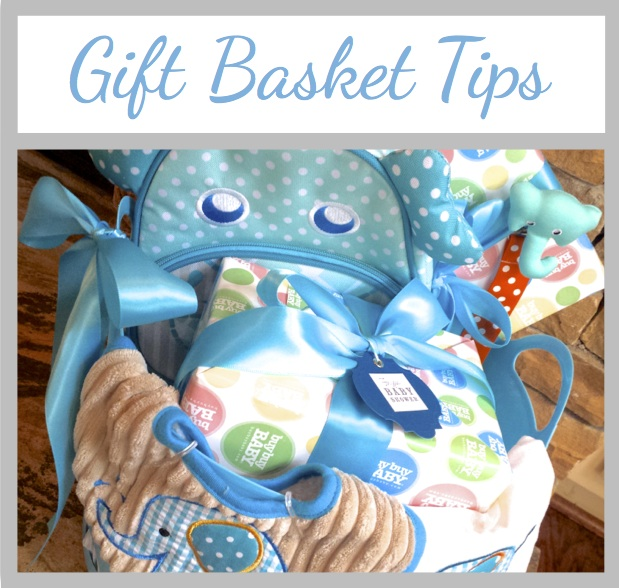 Homemadeville your place for homemade inspiration tips for tips for arranging gift baskets elephant baby shower basket negle Choice Image