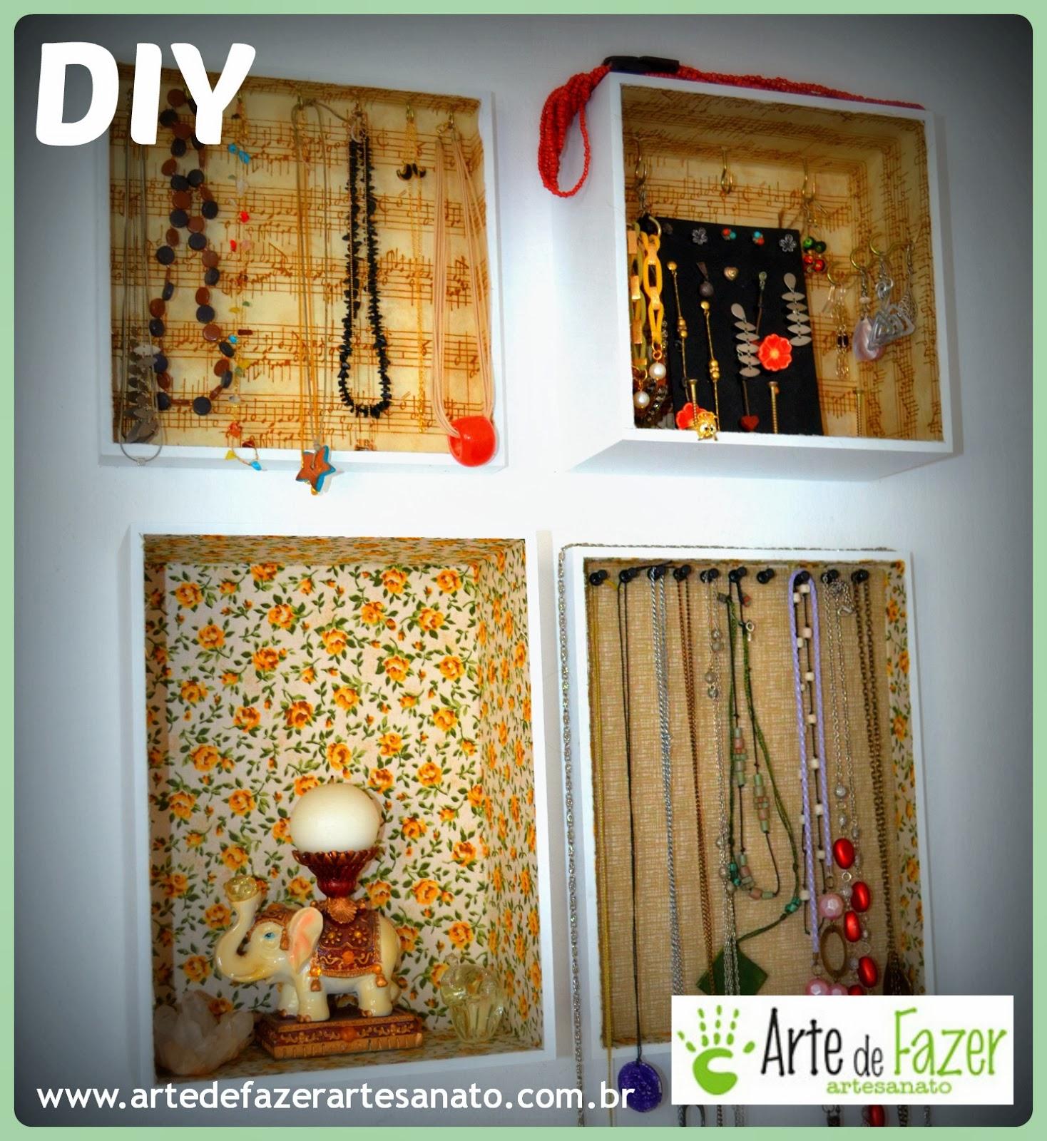 Módulos para guardar colares, pulseiras, brincos e anéis