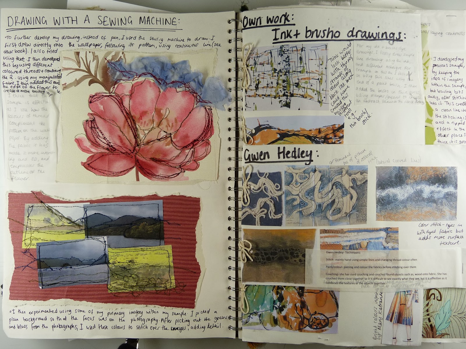 Fashion and art blog: Sketchbook devlopment and research