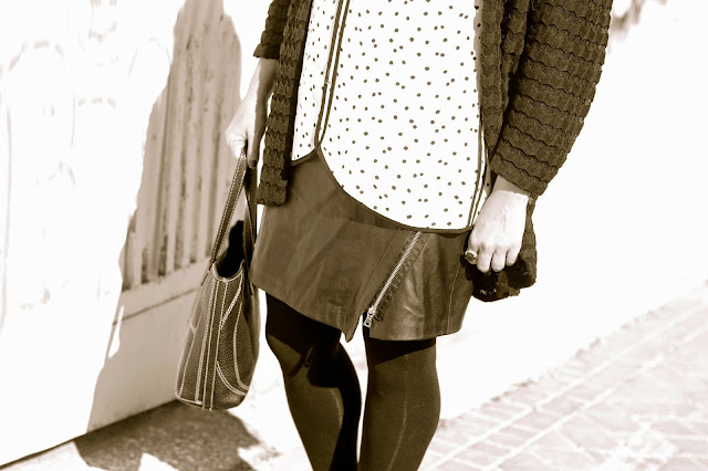 photo-look-street_style-black_and_white-leather_skirt-dots_shirt-zara