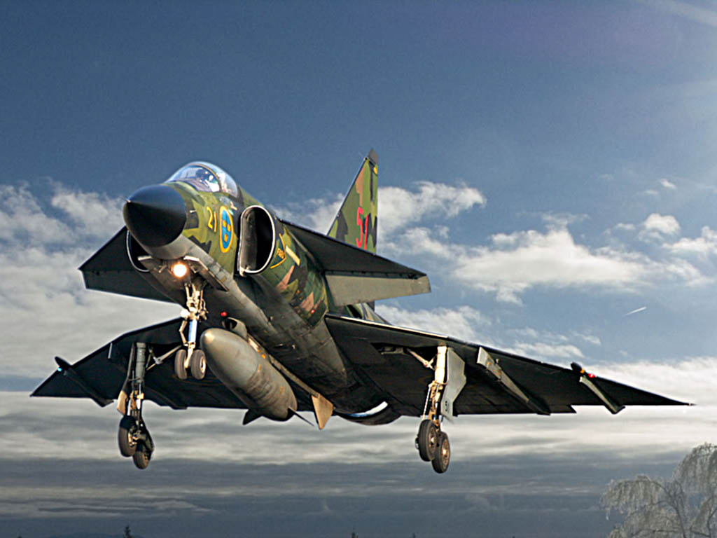 Saab 37 Viggen Swedish Air Force Pictures