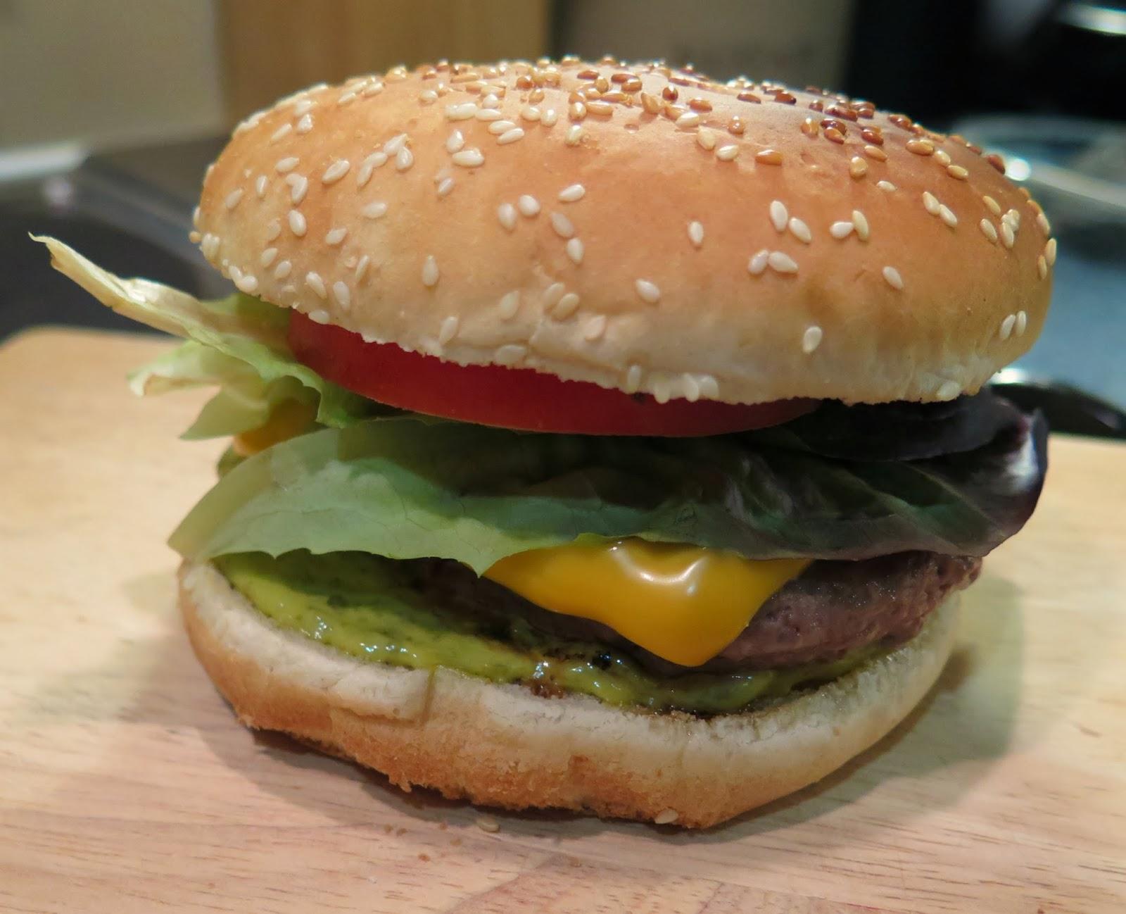 pesto burger, Michelle Louise Love