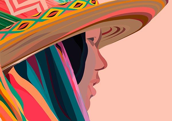 Ilustración, Wayuu de Nathaly Sánchez Angulo aka Natha