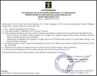 formasi cpns 2013 untuk SMK