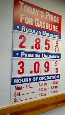 Costco gas for Apr. 10, 2015 at South San Francisco, CA (airport location)