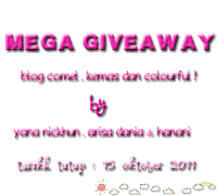 Mega Giveaway By Yana, Arisa Dan Hanani