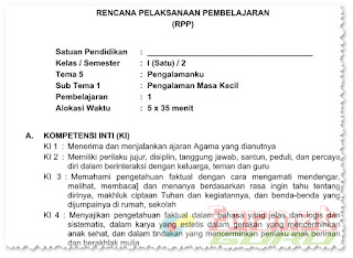 Download Contoh Format RPP Semester 2 SD