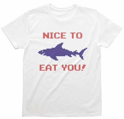 Pixel Party Boy「Nice To Eat You!」[Stylish unisex] 4.3oz | T-SHIRT COUNCIL