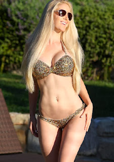 Heidi Montag Glittery Bikini Las Vegas