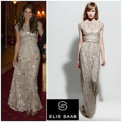 Crown Princess Victoria's Style : Elie Saab Dress and Yves Saint Laurent Sandals