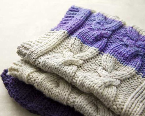 How to Knit a Cabled Blanket
