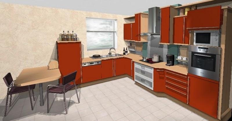 Plan cuisine logiciel 3D gratuit  Meubles de cuisine