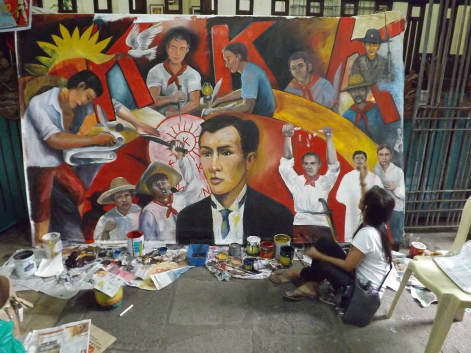 Bloggers association of the philippines isang daan at for Bonifacio mural