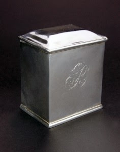 ANTIQUE 18thC GEORGIAN SOLID SILVER TEA CADDY BOX, LONDON c.1774