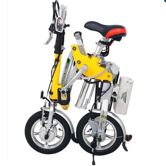 "Harga Sepeda Listrik Lipat Dynabike Flex12"" - Kuning"