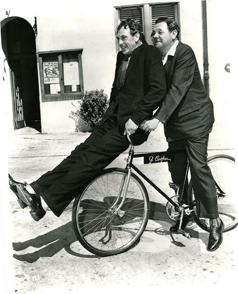 Babe Ruth takes Gary Cooper for a ride. 1942