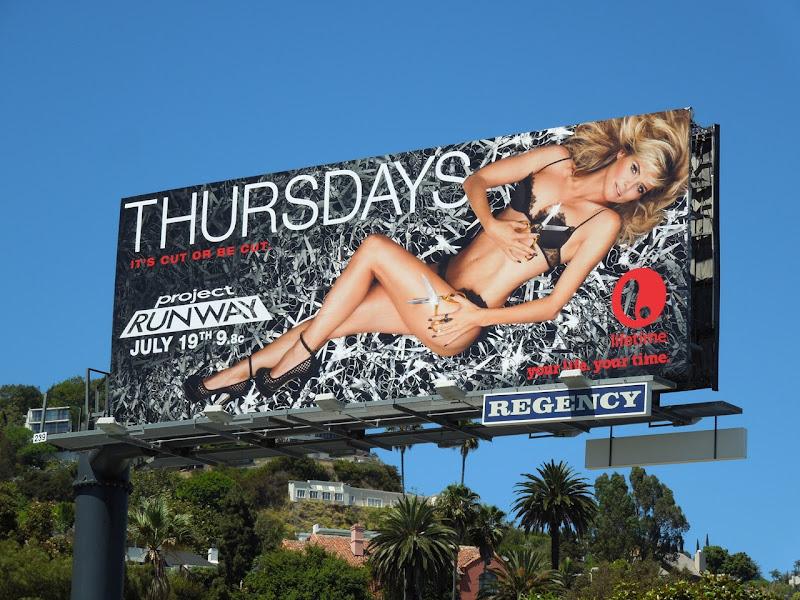 Heidi Klum Project Runway season 10 billboard