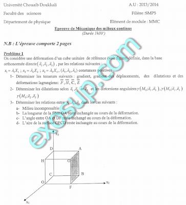 sujet contrôles SMP S6 Parcours FSJ