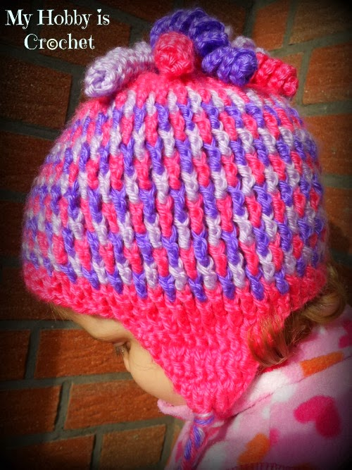 Crochet Baby Hat Tutorial Step By Step : My Hobby Is Crochet: Gumdrops Earflap Hat - Free Crochet ...