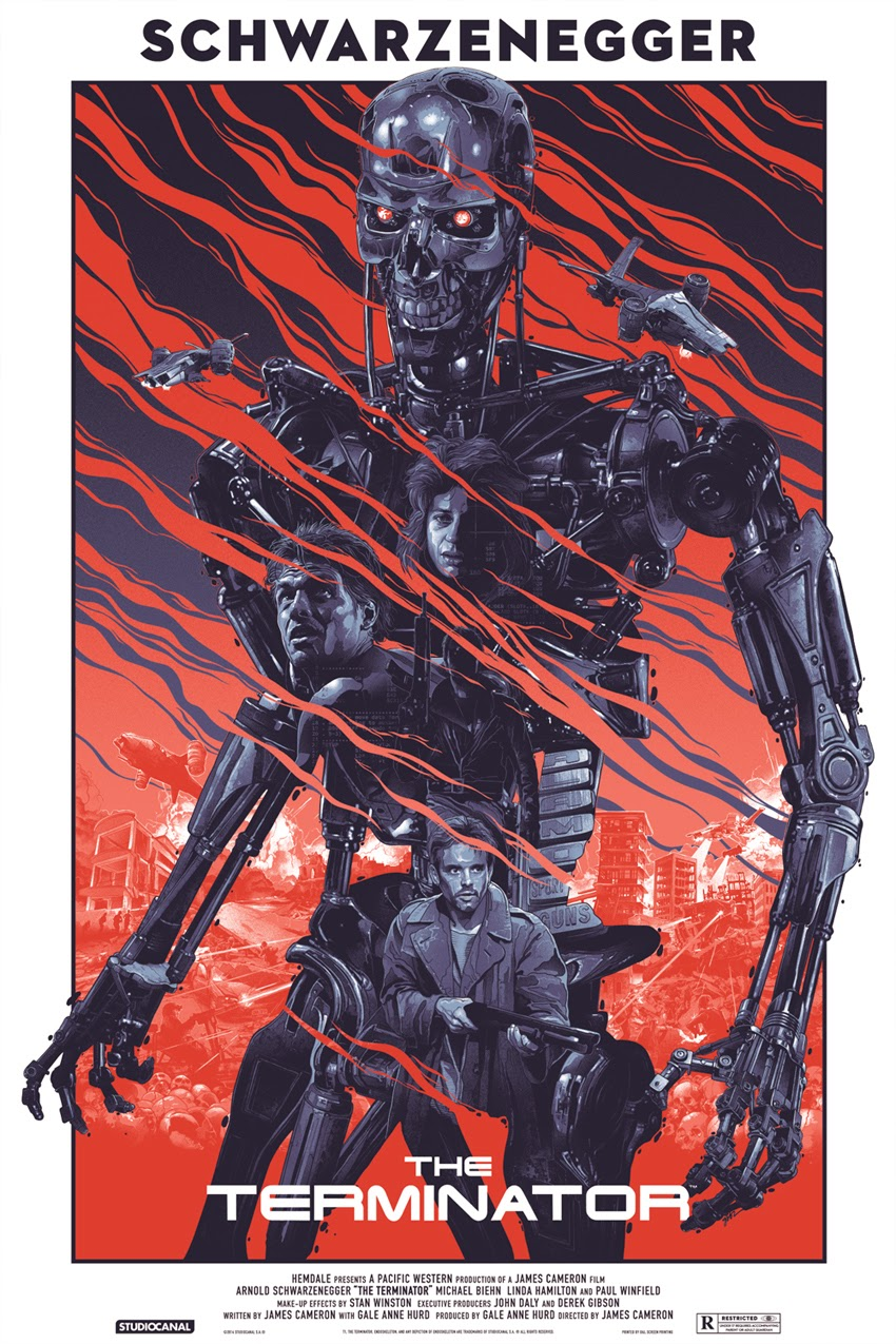 The Terminator Standard Edition Screen Print by Grzegorz Domaradzki