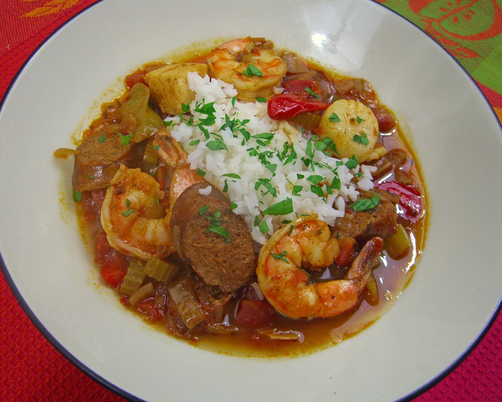 We Cook - You Cook : File Gumbo with Seafood and Andouille Sausage