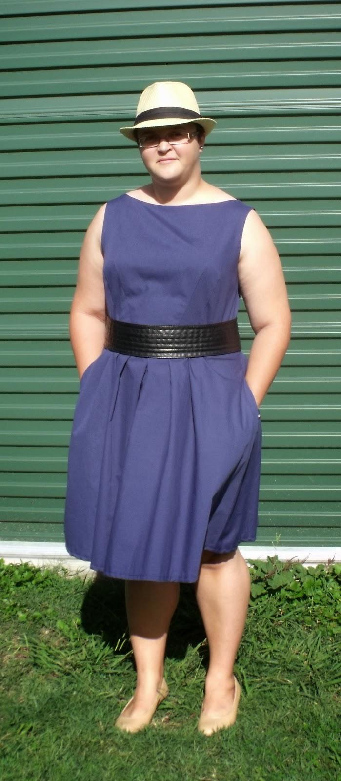 Navy S2444 Dress Post