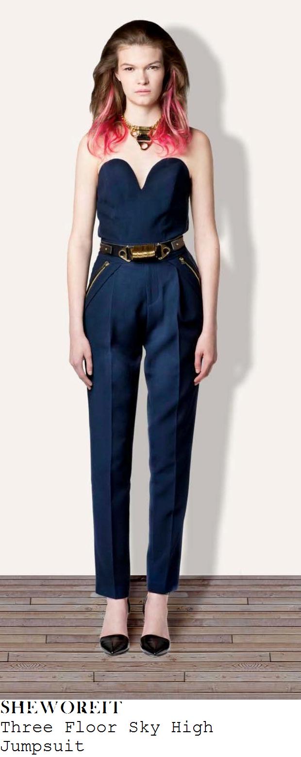 nicole-scherzinger-navy-blue-strapless-sweetheart-neckline-jumpsuit