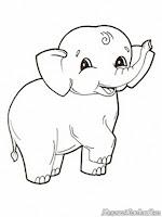 Mewarnai Gambar Gajah Kecil Tertawa