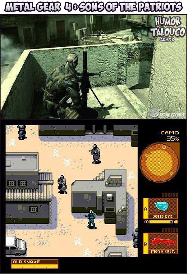 Games Atuais com Gráficos de Super Nintendo - Metal Gear 4: Sons Of the Patriots